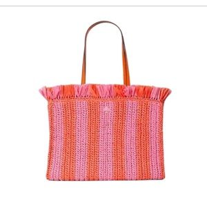 Kate Spade straw tote NWT